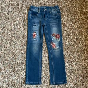 Faded Glory Flower Jeans